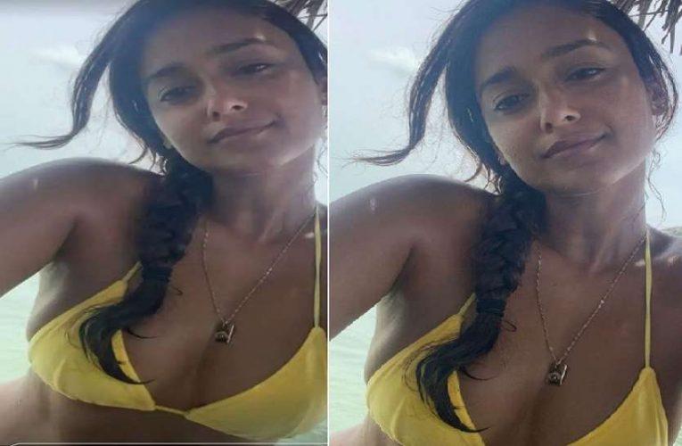 Ileana D'Cruz Flaunts Her Tan Skin in Yellow Bikini